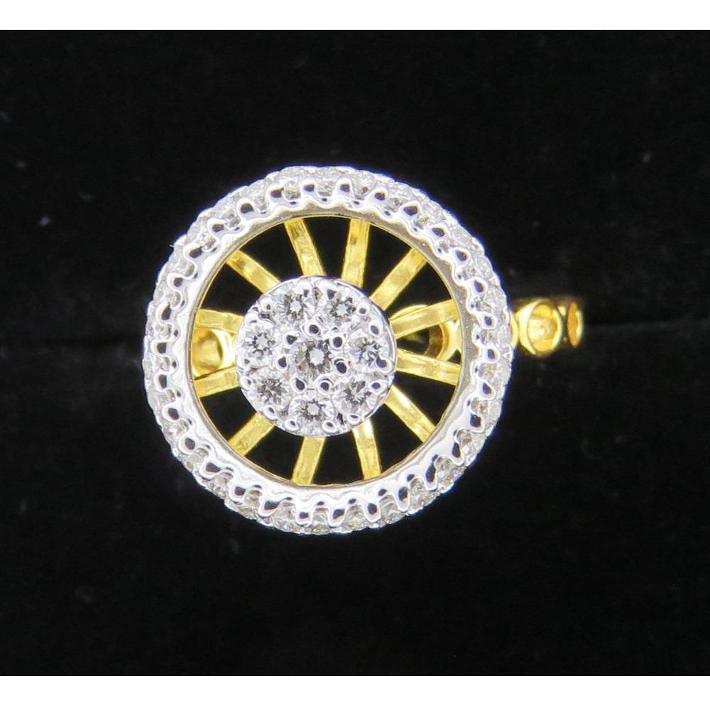 Gold Round Shape Diamond Ring KJ-R12
