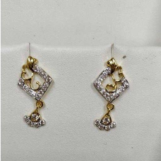 916 Classic Gold Diamond ladies Earrings