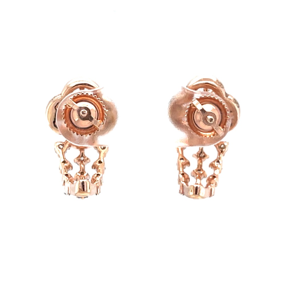 Charmant diamond bali in 18k rose gold in prong setting 9top17