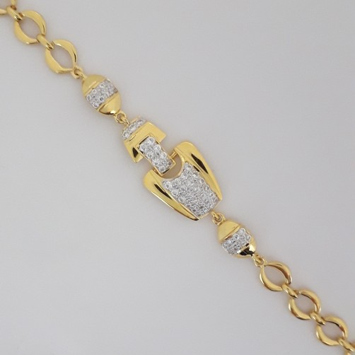 916 Gold decent bracelet
