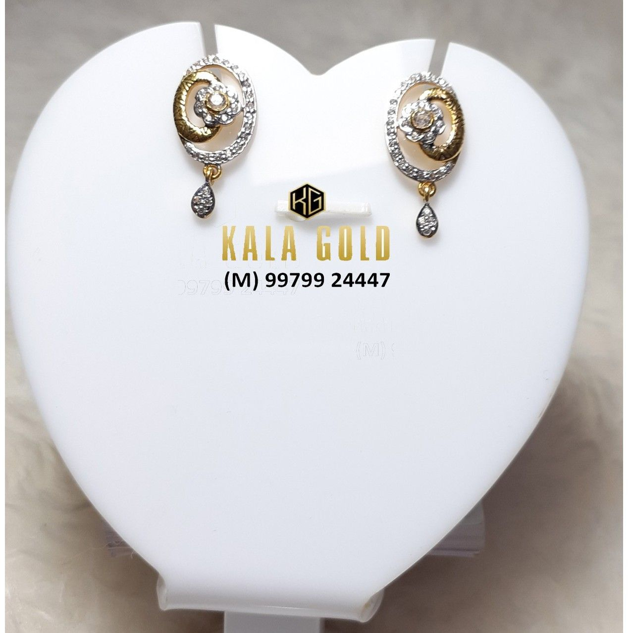 916 Fancy Oxidised Earring