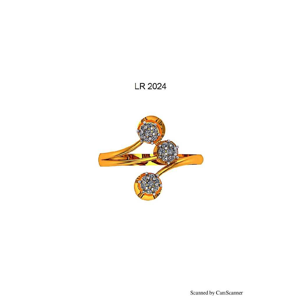 76 Gold cz Ladies ring 024