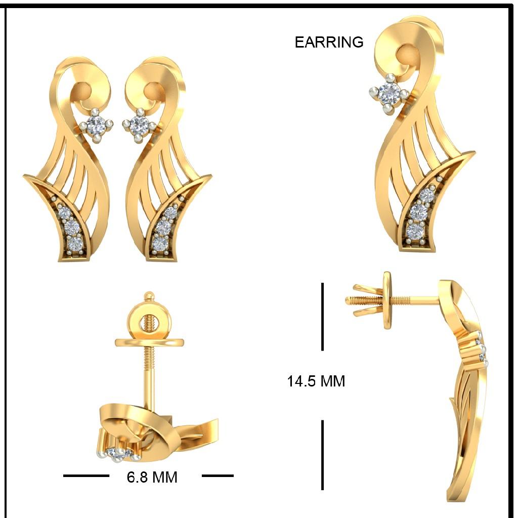 22Kt Yellow Gold Micaela Earrings For Women