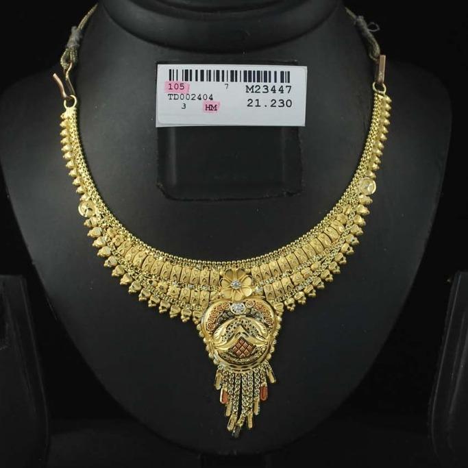 22Kt Gold Hallmark Necklace Set For Women