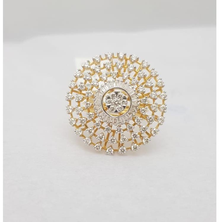gold fancy diamond ring kj-lr04