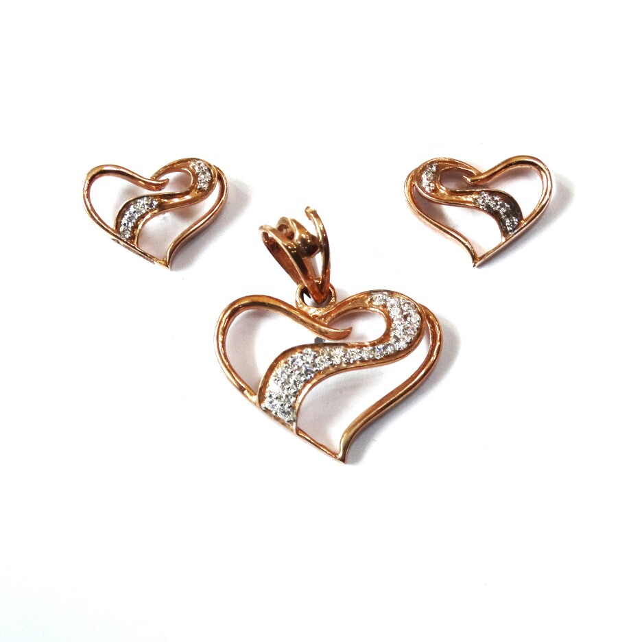 18k rose gold pendant set mga - rps004