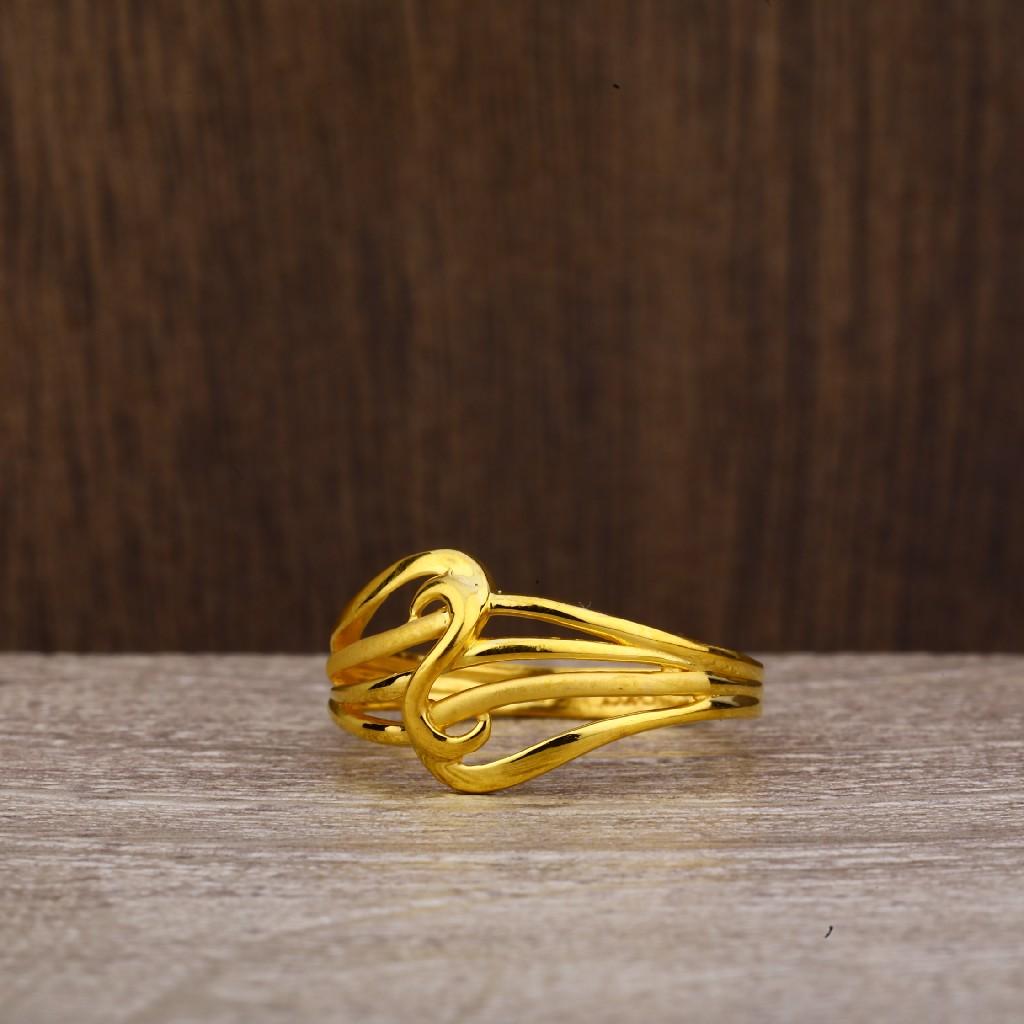 916 Gold Women's Plain Ring LPR238