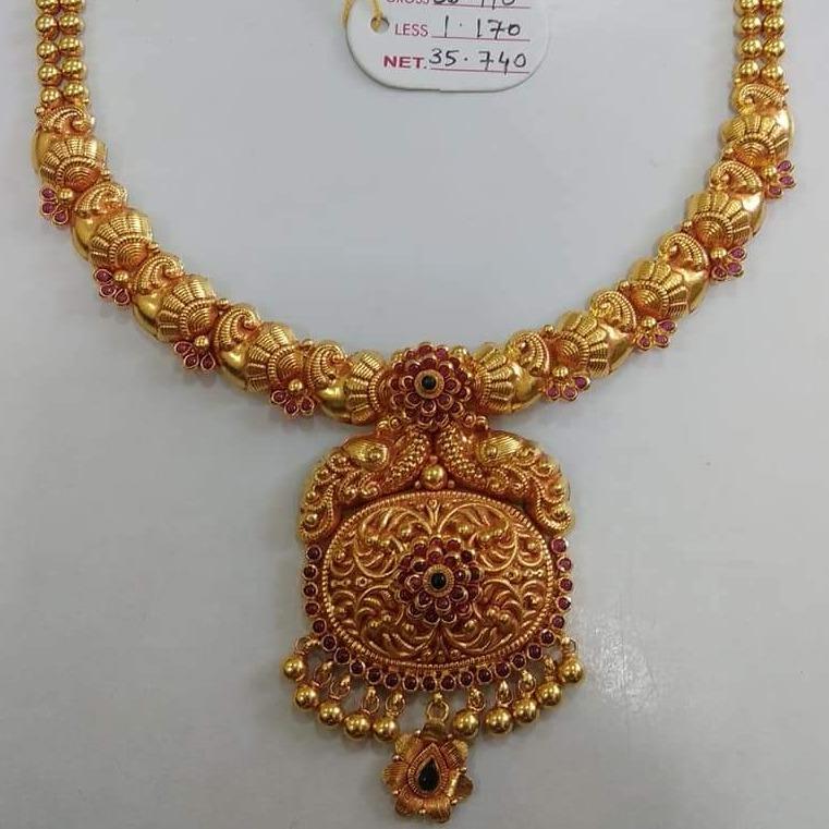 916 GOLD JADTAR NECKLACE
