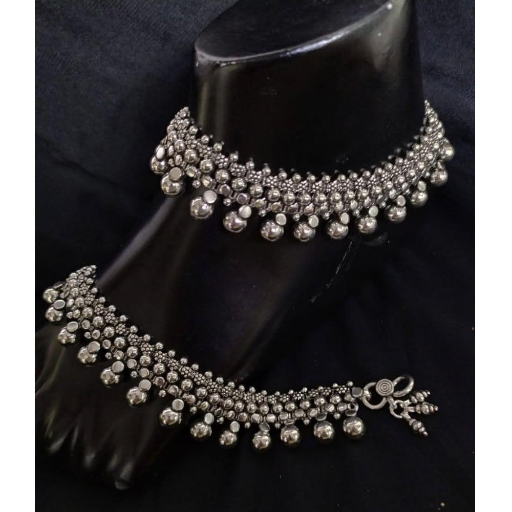 925 Pure Silver Antique Payal Handmade PO-208-18