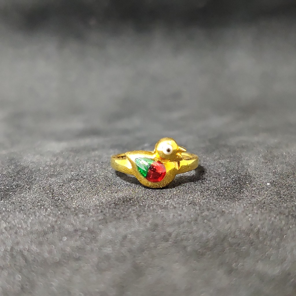 22Kt Exclusive Kids Duck Design Gold Ring-24509
