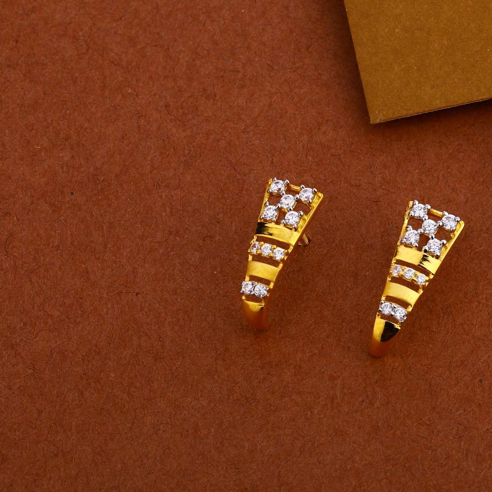 22KT Gold CZ Classic  Mangalsutra Pendant Set MP257