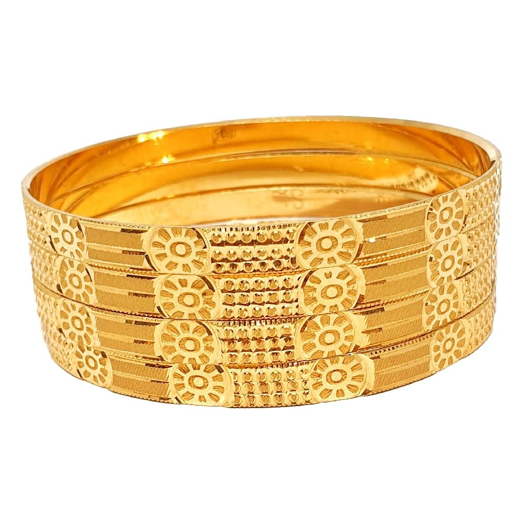 1 gram gold forming plain bangles mga - bge0331