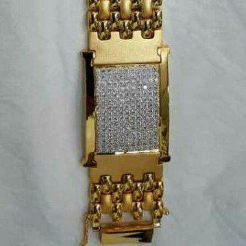 916 Gold Casting Gents Bracelet