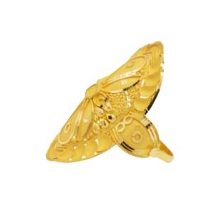 22 k,916 light weight yellow gold ladies ring rj-lrg013