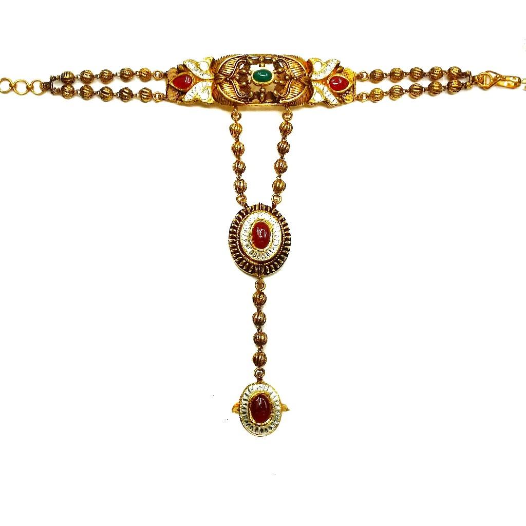 22k gold antique poncho mga - gp0017