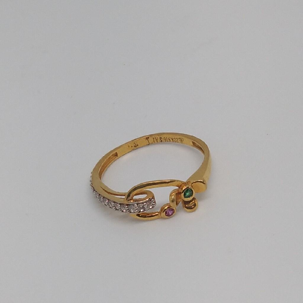 22kt 916 gold ring for women