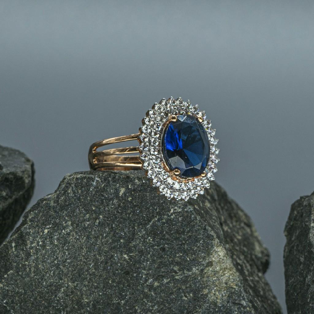 Blue sapphire &Real diamond