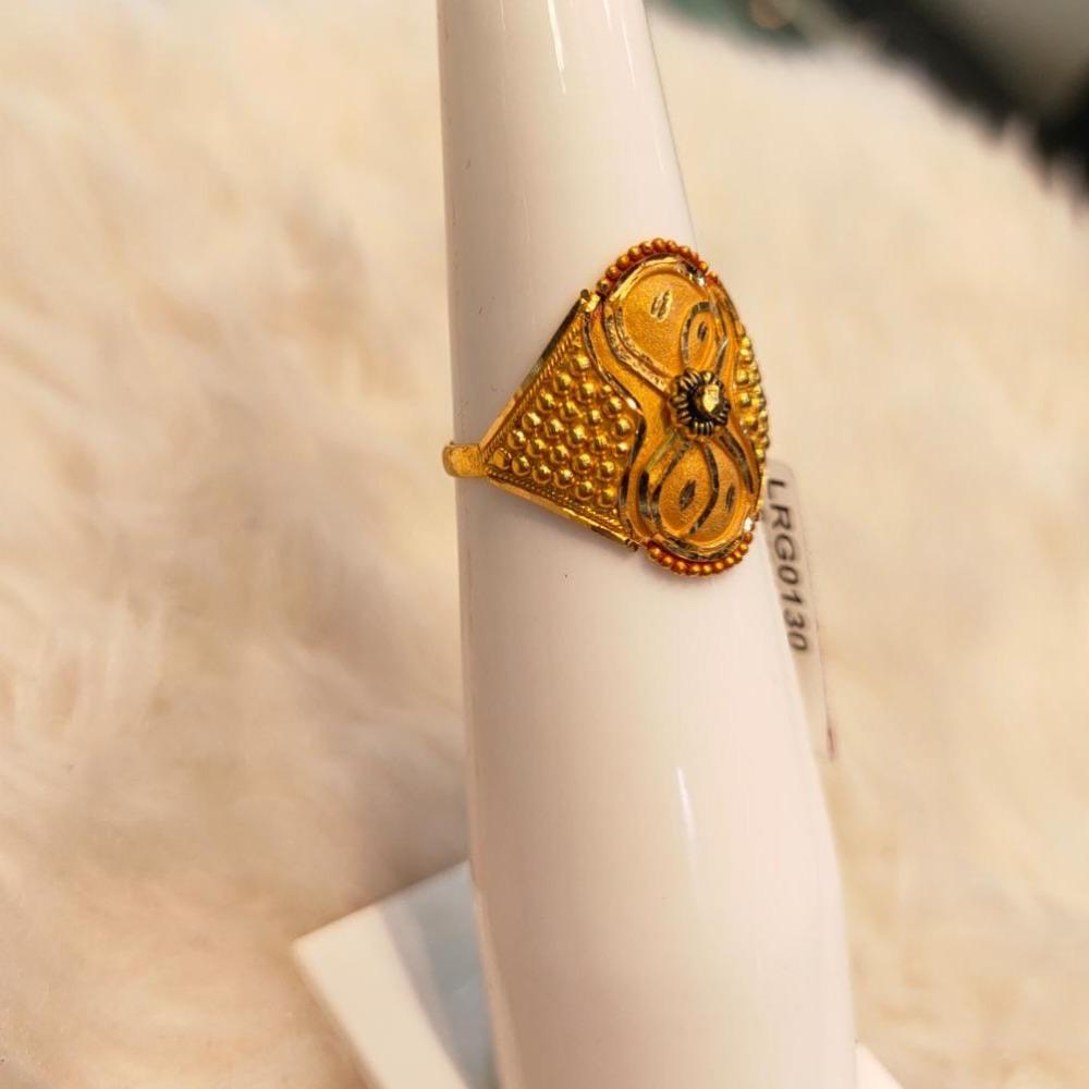 22KT Gold Hallmark Designer Ring For Women
