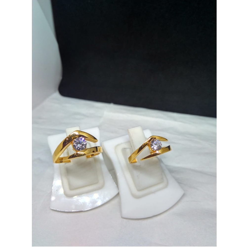 916 Gold Attractive Couple Ring SG-R003
