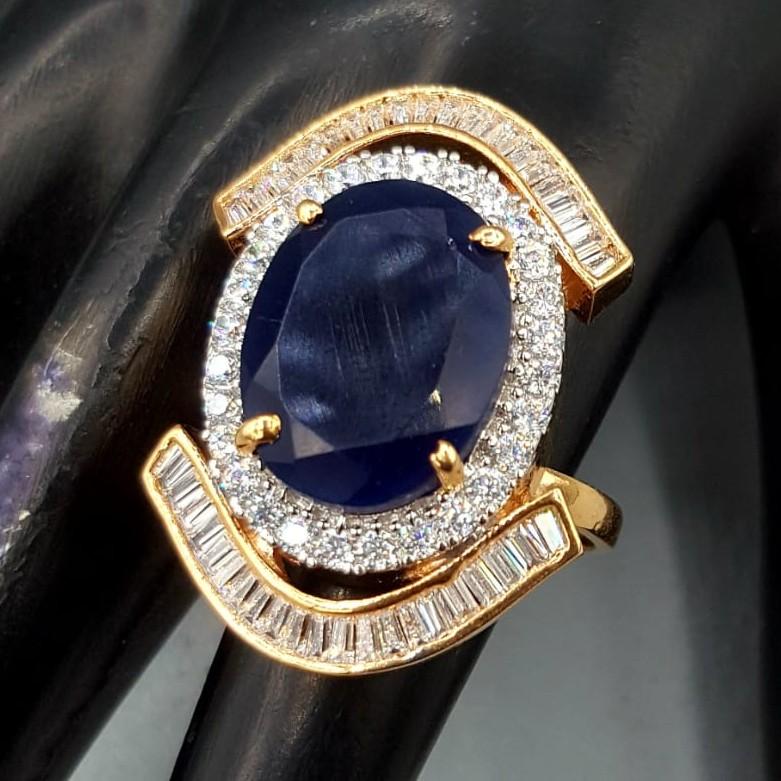 beautiful blue diamond ring#676