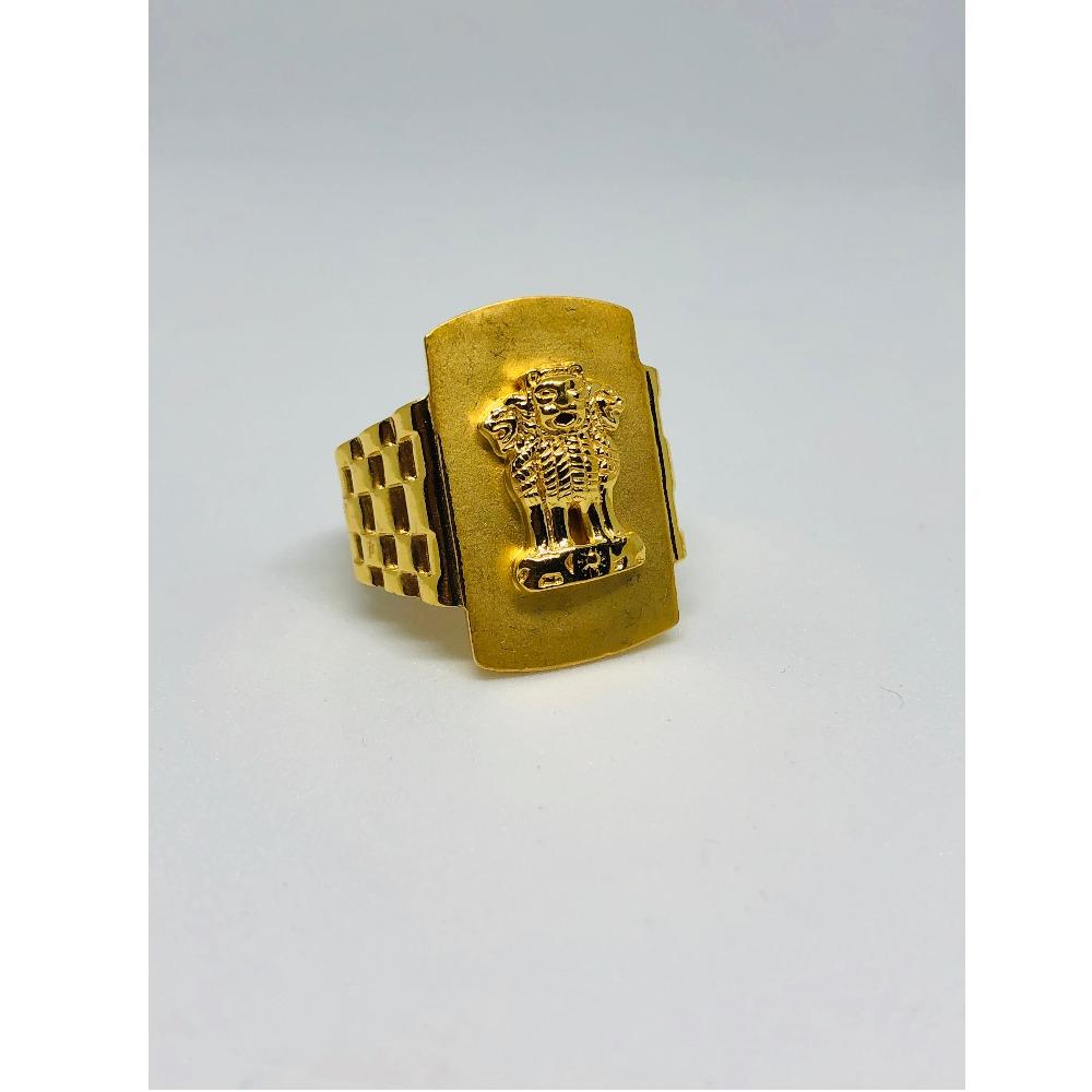 916 Gold Ashok Stambh Design Ring For Men KDJ-R005