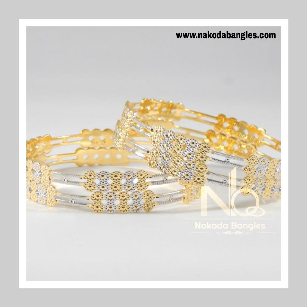 916 Gold CNC Bangles NB - 710