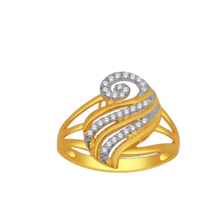 18k gold real diamond ring