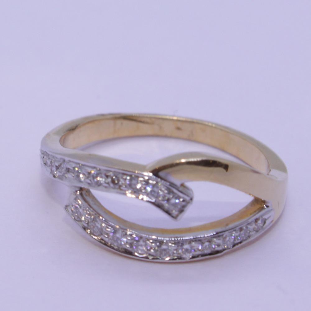 18K gold diamond ring agj-lr-97