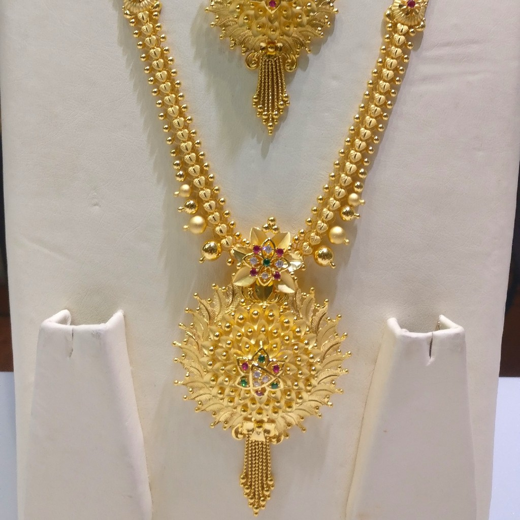22kt gold handmade savithri fusion Haram