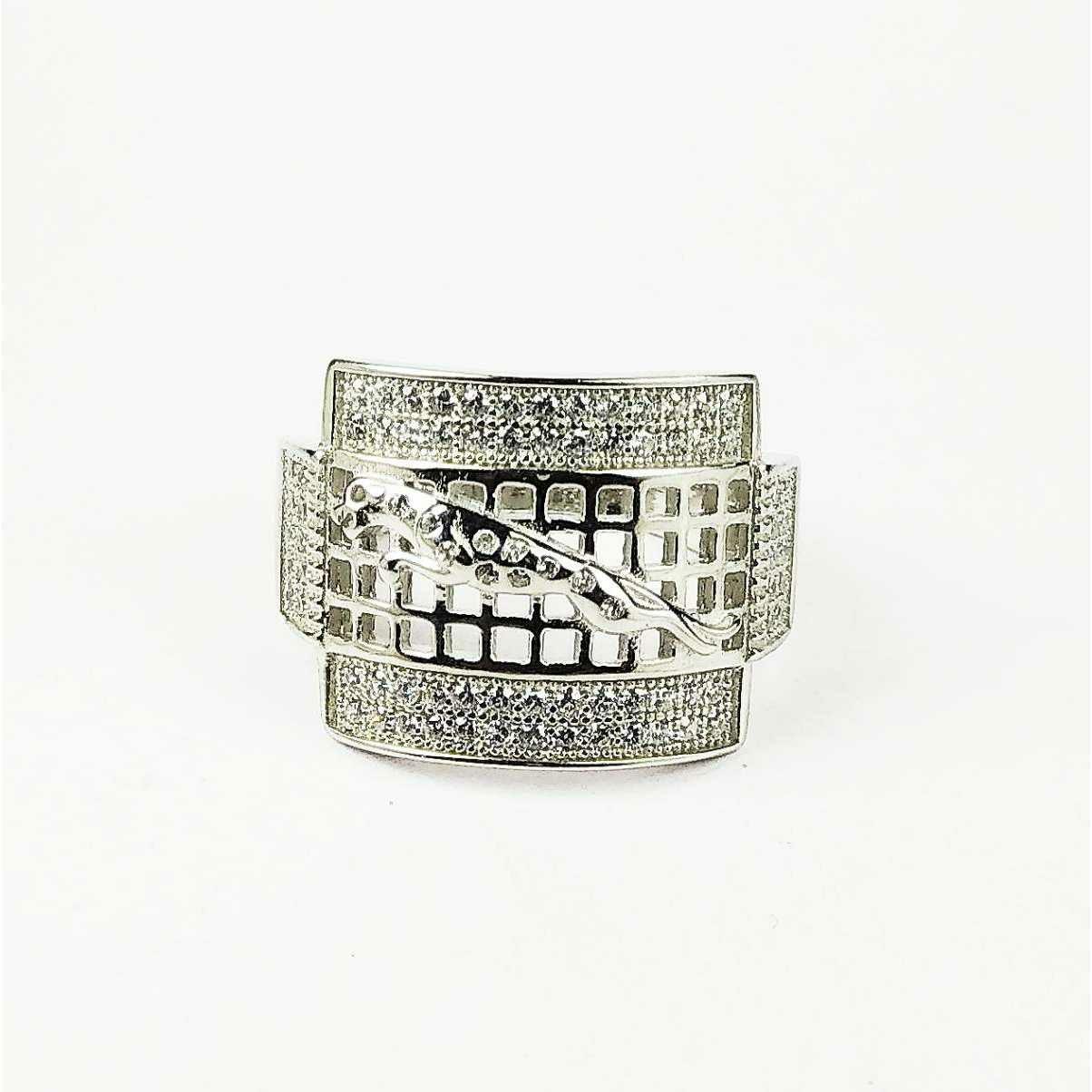 Descent 925 Silver Jaguar Gents Ring