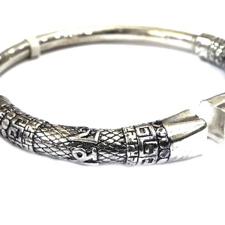 925 sterling silver gents Kada bracelet MGA - BRS0410