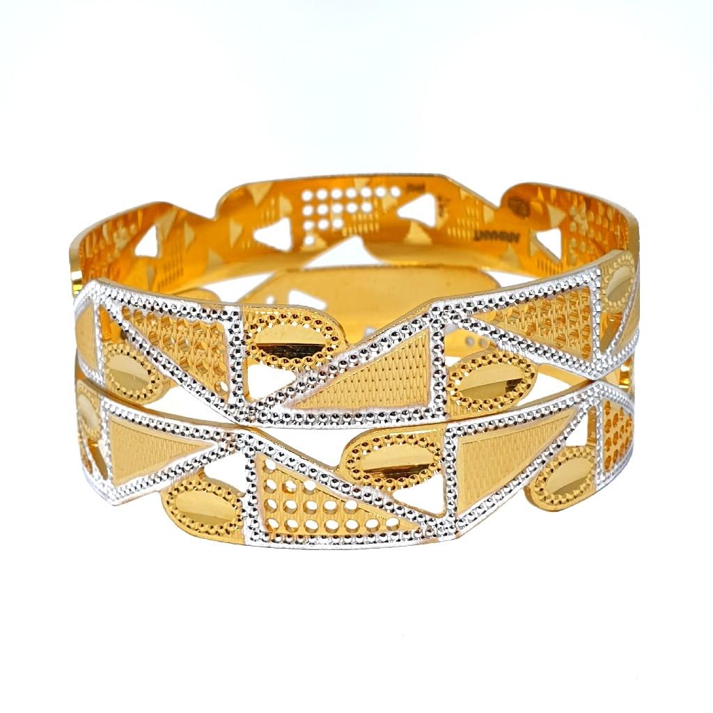 One Gram Gold Forming Fancy Bangles MGA - BGE0466