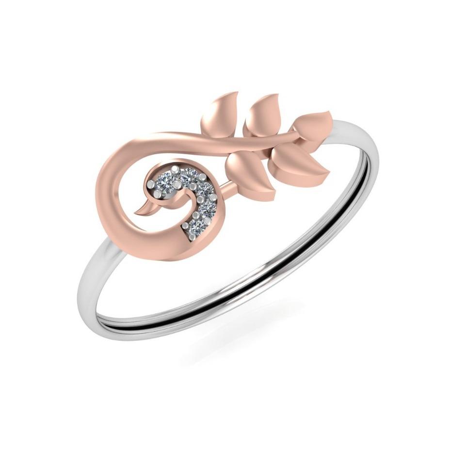 18K Gold Peacock Design Diamond Ring JJ-R09