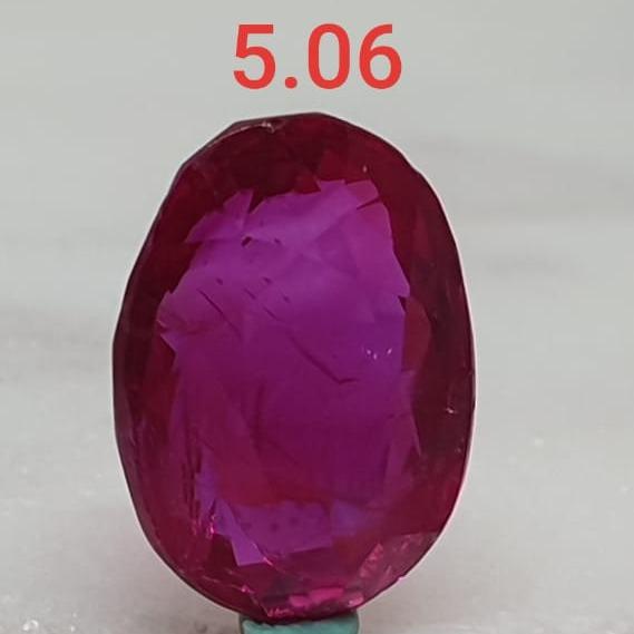 5.06ct Oval Pink Ruby-Manek VG-R35