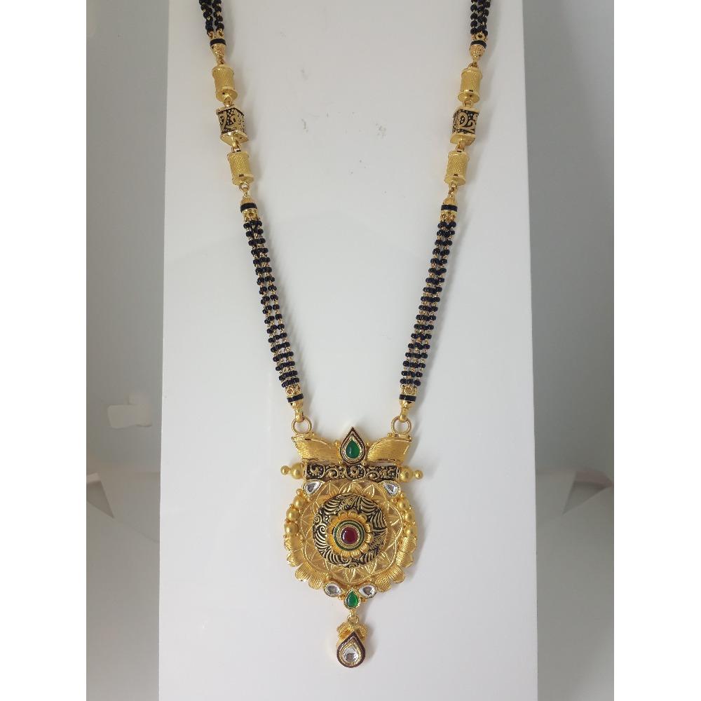 916 Gold Antique Long Mangalsutra IO-A016