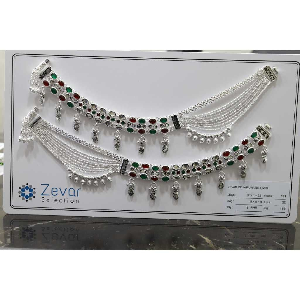 Silver Jaipuri Jul Payal