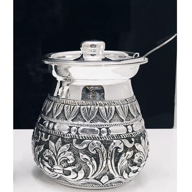925 pure silver ghee dani (designer and antique carvings) po-244-02