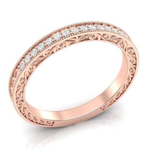 designer filigree diamond band
