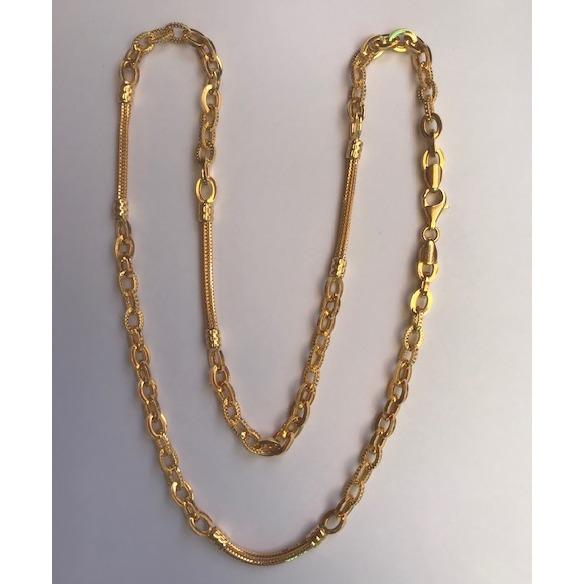 22K Gold Classic Handmade Chain DC-C004
