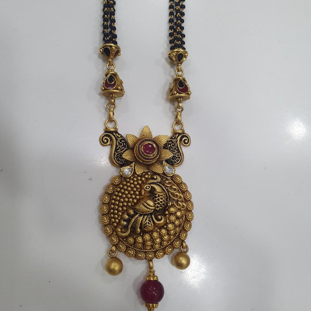 Peacock Design Mangalsutra Pendant