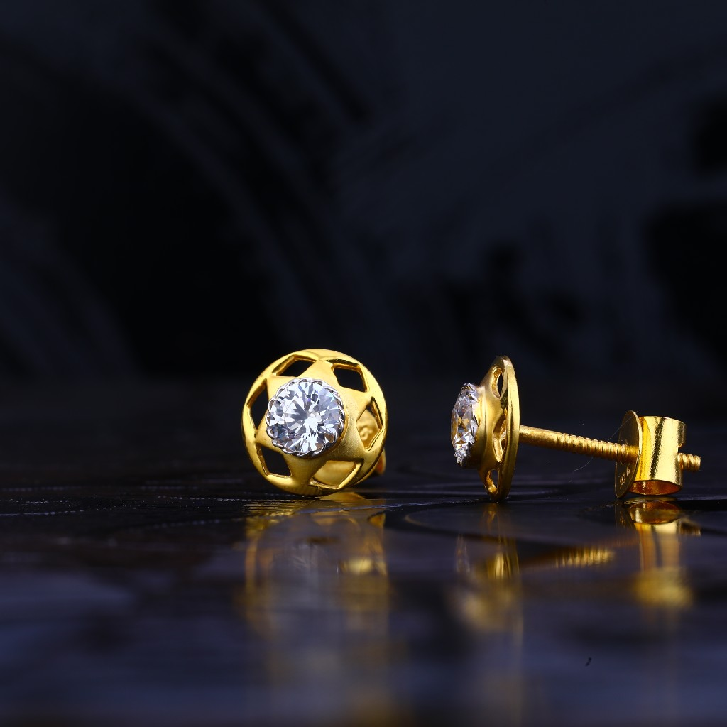 22kt Gold Hallmark Fancy Earring LSE604