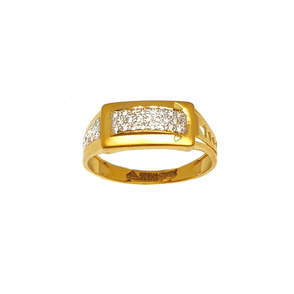 22K Gold Matte Finish Gents Ring MGA - GRG0199