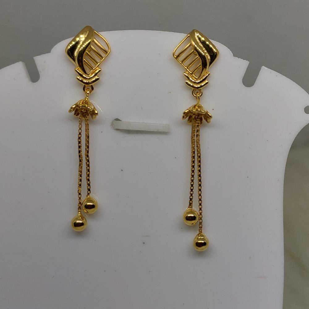 22kt gold plain, latkan earring sog-e031