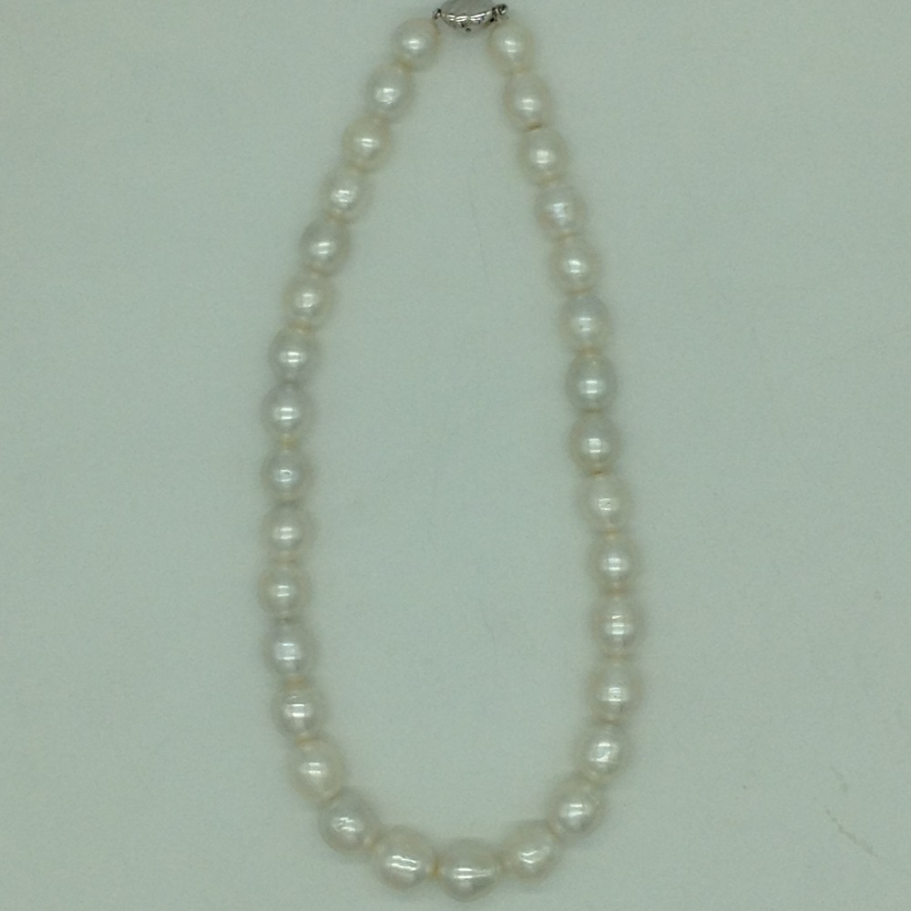 White OvalSouth Sea Pearls Strand JPM0399