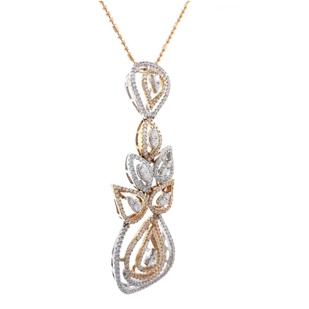 Prachtig Diamond Pendant in Rose Gold 7SHP24