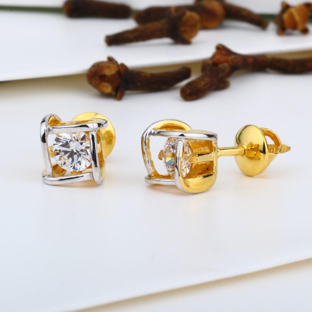 916 Gold Square Design Swarovski Tops JJ-E020