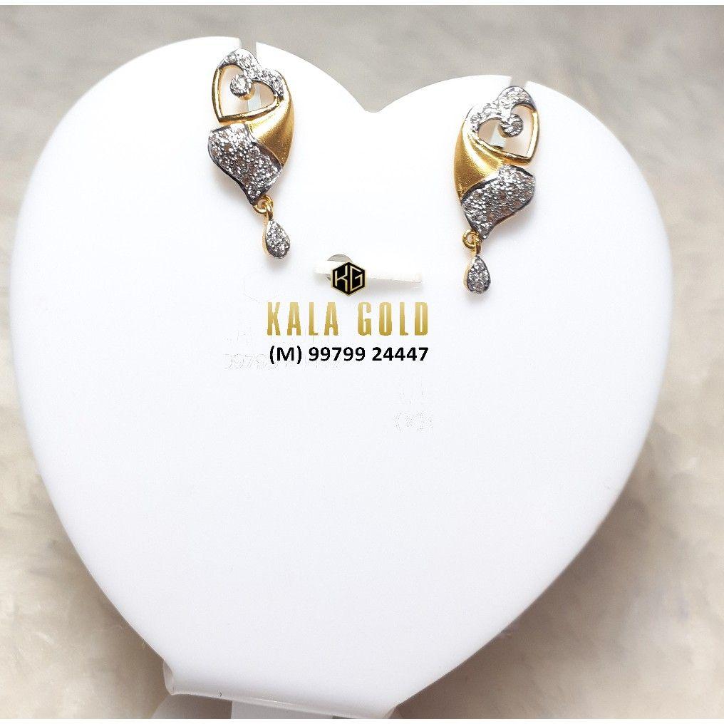 916 Cz Heart Shaped Earring