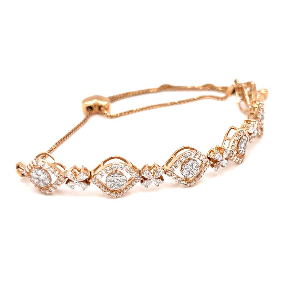 Egyedi diamond tennis bracelet in 18k hallmark rose gold