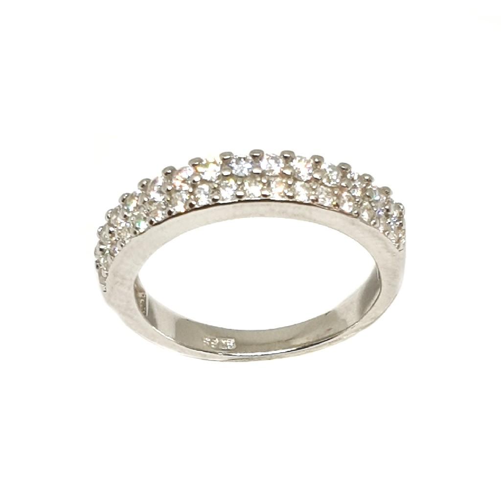 925 Sterling Silver Diamond Lining Ring MGA - LRS3389