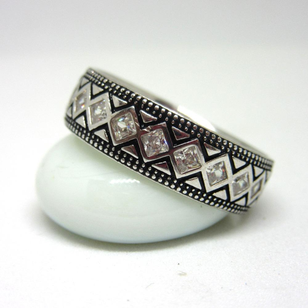 925 silver oxidise band sr925-207